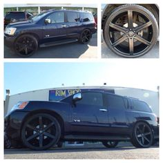 Blacked Out Nissan Armada