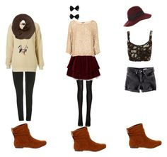 """""""What to wear with brown suede ankle boots"""" by danamkg ❤ liked on Polyvore featuring Dreams Footwear, Wet Seal, Antik Batik, Betty Jackson. Black, Fogal, Steven Alan, Vince, Forever 21, H&M and French Connection"""