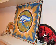 Eye of Horus and Sun Mandala / Egyptian Deco Motifs by OleseaArts