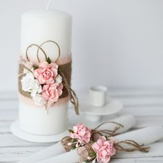 "Wedding Candles Home ""rustic"" – shop online on Livemaster with shipping - FXW4NCOM 