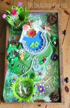 Fairy garden imaginative play scene