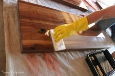 How to finish, seal and waterproof wood counters. Using waterlox
