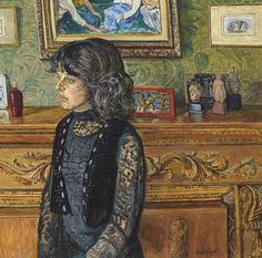 Carel Weight Sarah 1980 Female Images, Female Art, Royal Engineers, Tate Gallery, Camille Pissarro, Royal College Of Art, European Paintings, Victoria And Albert Museum, Art