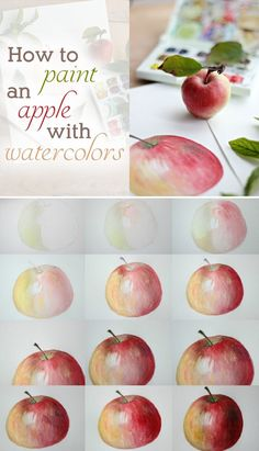 How to Paint an Apple with Watercolors | eHow Crafts | eHow