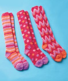 Cozy knee high socks - fun and comfy gift! #valentinesday