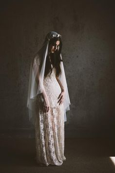 Romantic Veils and Bridal Headpieces for the Modern-Vintage Loving Bride from Mignonne Handmade
