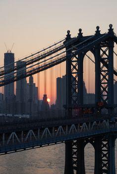 Lower Manhattan, Manhattan Bridge, 8:19PM