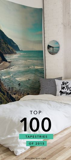 Wall tapestries are a perfect statement making piece for a small space. Check out these top 100 designs ranging from photographic landscapes, boho patterns, and wanderlust designs to make any dorm room, apartment, or small space pop!