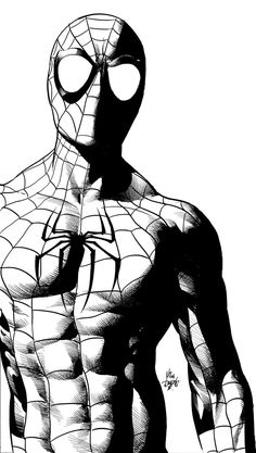 Spider-man by Mike Deodato JrYou can find Mike deodato and more on our website.Spider-man by Mike Deodato Jr Spiderman Sketches, Spiderman Kunst, Spiderman Drawing, Avengers Drawings, Comic Book Drawing, Comic Books Art, Comic Art, Mike Deodato, Anime Art Fantasy