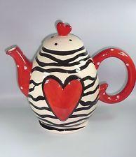 """Design-Teekanne Jameson&Tailor Dekor """" schwarz-weiß """" 1,5 L  Keramik-handgemalt"""