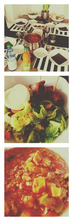 Wenn die Mama der Kollegin um die Ecke wohnt <3 #eintopf #salat #ziegentaler #dattelninspeck geniales Leben auf der Arbeit!