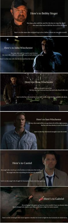 Here's to the characters of Supernatural ... who loved too much