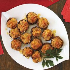 Party Appetizers: Stuffed Mushrooms