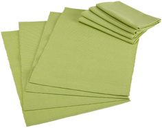 Amazon.com - DII Basics Fresh Green Table Linen Set - Cloth Napkins #AmazonCart #DII #DesignImports