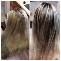 """Break away from the boring routine of high lights. Embrace your root. The """"Root Stretch."""" By stylist Jacqueline LaGrow, Fusion Salon in Folsom Ca, and Chateau Cheveux Salon in Chico Ca."""