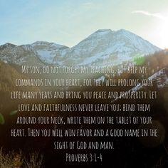 Prov. 3:1-4
