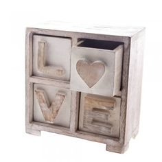 Sass & Belle 'LOVE' Wooden Drawers