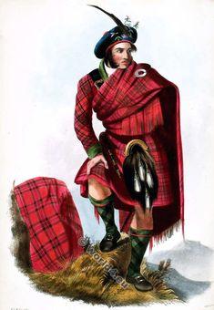 Mens Costume Scotsman Highlander Well Hung Scottish Kilt Fancy Dress Carnival