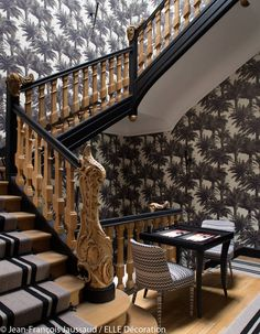 les 80 meilleures images de papier peint escalier en. Black Bedroom Furniture Sets. Home Design Ideas