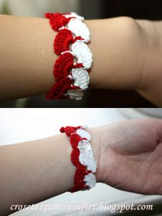 Crochet Bracelet Crochet Bikini Pattern, Crochet Bracelet, Rakhi, Little Things, Lana, Diy And Crafts, Textiles, Bracelets, Manualidades