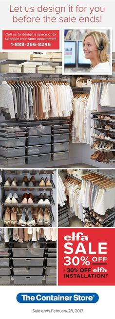 Cool Let us design your new closet for FREE Call or stop in and let our