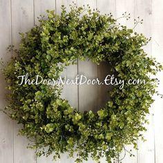 Eucalyptus Wreath  Spring Wreath  Eucalyptus by TheDoorNextDoor