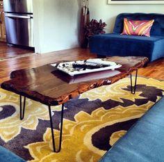 DIY: Make an Earthy Coffee Table: DIY Live Edge Coffee Table http://diy.about.com/od/DIY/fl/DIY-Live-Edge-Coffee-Table.htm
