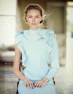 "opaqueglitter:  Vogue Japan June 2013,Frida Gustavsson ByBoo George ""A Soft Dynamic"""