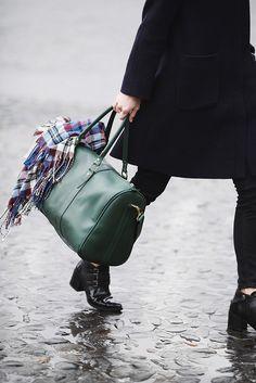emerald travel bag