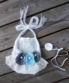 Newborn Girl Photo Prop Outfit, Baby Girl Props, Newborn Girl Gift, Infant Photo Props, Baby Girl Photography Props, Baby Girl, Baby Gift READY TO SHIP SET! ONE OF A KIND! Beautiful and exclusive little mohair outfit and headband hoto prop set for a newborn baby girl. Decorated