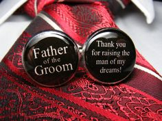 Father of the Groom Cufflinks - Thank you for raising the man of my dreams cuff links are the ideal wedding gift for your grooms dad. on Etsy, $38.24