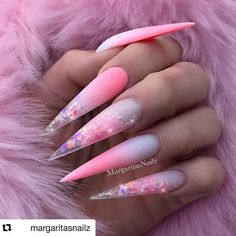 46 Cute Pointy Acrylic Nails that are Fun to Wear acrylic stiletto nails. the best latest glitter acrylic nail art designs ideas for long nails 32 ~ p. Pointy Acrylic Nails, Matte Stiletto Nails, Best Acrylic Nails, Acrylic Nail Designs, Gel Nails, Coffin Nails, Exotic Nail Designs, Crazy Nail Designs, Nail Polishes