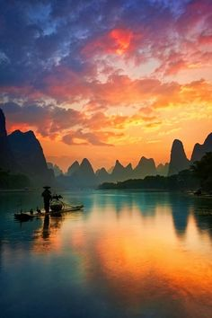 Guilin, China - underneath all these mountains are the Reed Flute caves.