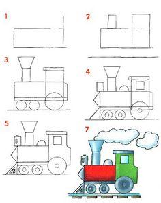 Dibujar medios de transportes terrestres ~ Rayito de Colores