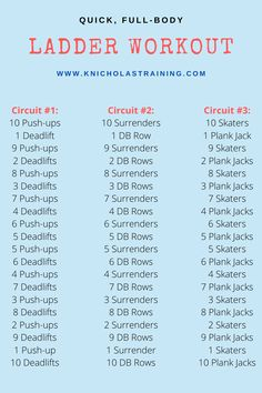 HIIT Ladder Workout — Karen Nicholas Training - Hiit workouts at home full body - Wod Workout, Hiit Workout At Home, 30 Minute Workout, At Home Workouts, Hiit Training Workouts, Group Workouts, Cardio Hiit, Treadmill Workouts, Month Workout