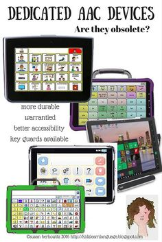 """Dedicated AAC Devices"" I Are AAC Devices obsolete due to IPad Technology? I Pinned by CAC"