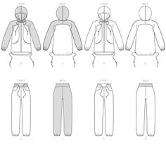 B6386 | Misses' Seamed Jacket with Hood and Drawstring Pants Sewing Pattern | Butterick Patterns