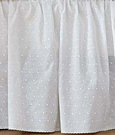 """Dotted Swiss Gathered Bed Skirt-14"""" Drop"""