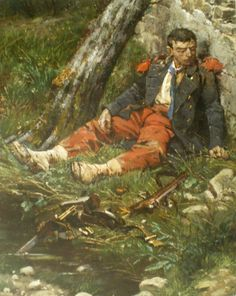 The dying French soldier, Franco-Prussian War