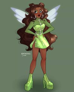 Winx Club, Black Girl Art, Art Girl, Winx Cosplay, Different Drawing Styles, Las Winx, Aesthetic Grunge Outfit, Dress Up Day, Club Design