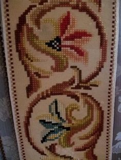 "French Vintage Quality Handwoven Tapestrt Panel 9ft.6"" long French Vintage, Hand Weaving, Cross Stitch, Tapestry, Home Decor, Projects, Dots, Punto De Cruz, Hanging Tapestry"