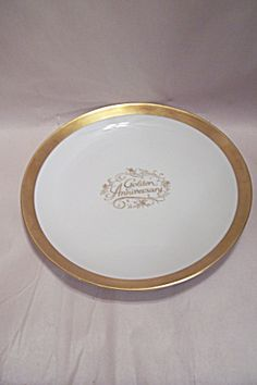 Golden Anniversary Wedding Commemorative Plate. Click on the image for more information. & Gold Tableware - Gold Party Supplies - Party City | Golden ...