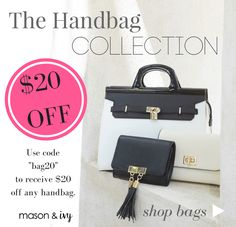 $20 OFF! Use code BAG20 - The Handbag Collection by Mason & Ivy