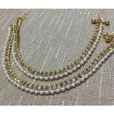 Diamond and pearl payal - Anklet - Ideas of Anklet - Diamond and pearl payal Ankle Jewelry, Ankle Bracelets, Feet Jewelry, Waist Jewelry, Jewelry Sets, Silver Heels Wedding, Indian Accessories, Bollywood Jewelry, India Jewelry