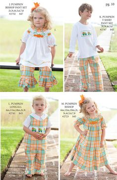 Shrimp and Grits Kids Fall 15'' Catalog Love both little girl outfits