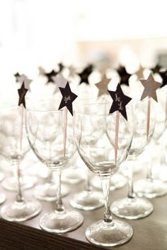 cute ideas for or devours..toothpicks with black and white stars saying 2013 on top! #FEELBEAUTIFUL #WHBM