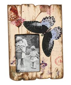 Take a look at this Cream & Pink Butterfly Picture Frame by Color Trends: Pops of Pink on #zulily today!