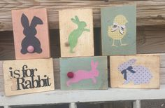 Shabby Chic Easter Blocks by Cards4Charlie on Etsy