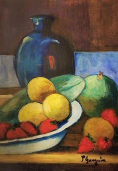 This lot consist of a hand-painted mixed media on hard paper still life illustration. It depicts a beautiful impressi. on Aug 2019 Paul Gauguin, Matisse, Still Life Artists, Impressionist Artists, Guache, Post Impressionism, Painting Still Life, Cool Paintings, Art Drawings Sketches