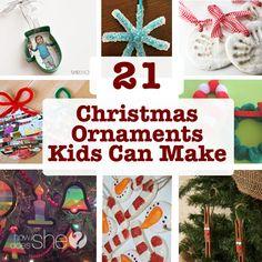 21 Christmas Ornaments Kids Can Make